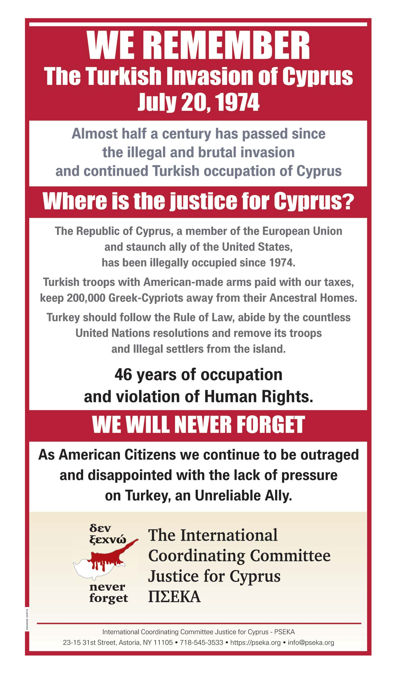 Where is the Justice for Cyprus?